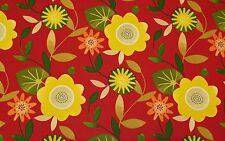 "MILL CREEK BONNYRIGG SANGRIA RED LARGE FLORAL OUTDOOR FABRIC BY THE YARD 54""W"