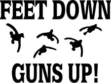Feet down guns up bird hunting humor hunt club auto truck suv 7.5x5.5