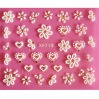 3D DIY Nail Art Transfer Stickers 1 Sheets Flower Decals Manicure Decoration Tip