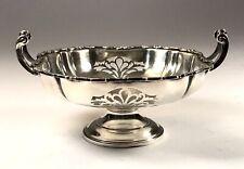 Elegant Antique Solid Silver Sterling Trinket Ring Dish