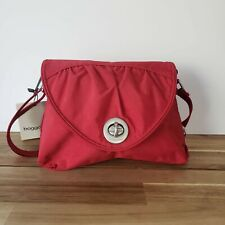 Baggallini Nassau Crossbody Red Nylon Travel Purse Women's Shoulder Bag New