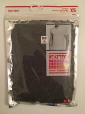 Uniqlo Heattech V Neck Short Sleeve T-shirt XSmall Men Dark Gray XS