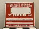 Grinnell Company Inc Automatic Sprinkler NOS Porcelain Sign