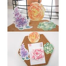 Flower and Leaf Remove message Sticky  Notes Memo pad Bookmarker Kit
