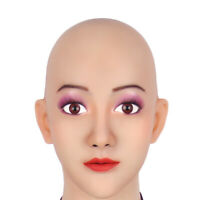 Silicone Headwear Sherry Full Head Female Permanent Makeup Headgear  Cosply m2f