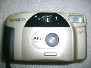 Vintage MINOLTA AF25 Autofocus Appareil Photo N° 81832629 vendu avec sacoche