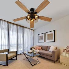 52� Modern Ceiling Fan Led Light Remote Control 5Reversible Blade Chandelier Fan