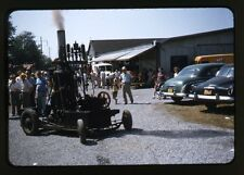 Farm Steam-Traction Engine / Tractor - c1950s - Original 35mm Red Border Slide