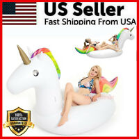 Giant Unicorn Inflatable Pool Float Adults Kids Outdoor Swimming Vacation Beach
