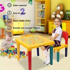 Desk Chair Kids Table Set Letter Study Play Children Activity Furniture Toddler