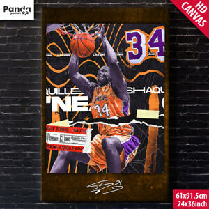 Shaquille O'Neal Canvas Poster (60x90cm/24x36in) SHAQ Lakers NBA Art Print