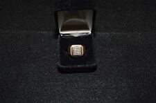 10k yellow gold .50ct diamond cluster ring vintage 8.7g gents estate mens