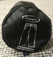 NEW CHAMPION Pack Away Water Resistant Trousers Black XXL