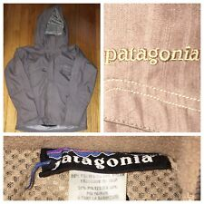 Patagonia Men's Hooded Light Brown Insulated Hard Shell Jacket Size Small