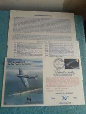Enveloppe Premier Jour FDC 50th Anniversary Spitfire Manston Airfield Hindmarsh
