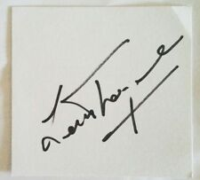 LEN THOMPSON AFL FOOTBALL SIGNED IN PERSON INDEX CARD BROWNLOW MEDAL