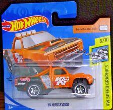 Hot Wheels '87 Dodge D100 naranja HW Speed graphics 6/10 2020 128/250 GHC88-D521