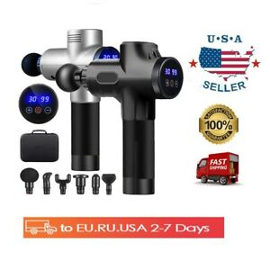New High frequency Electric LCD Deep Tissue Massager Gun Body Muscle Relaxing