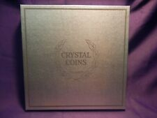 CRYSTAL COINS CRYSTAL COIN PLATE 1964 SERIES BY IMPERIAL GLASS CORP. JFK DOLLAR