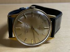 Cuervo y Sobrinos Unicos Importadores vintage Men's watch gold hands Swiss *28G