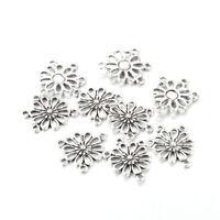 50 Pcs Alloy Flower Antique Silver Connector Link Chandelier Component Findings