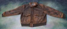 Aeropostale Compagnie Generale Bomber Leather Jacket Size 44.