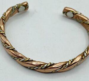 "Sergio Lub Magnetic Copper Cuff Bracelet 6-7"" Medium Braid"