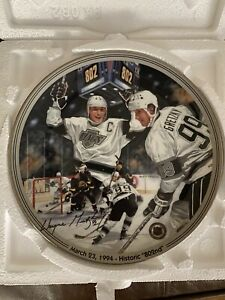 Wayne Gretzky Great Moments In Hockey 802nd Collector Plate 1 Glen Green NIB COA