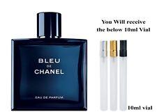 Men perfume parfum Bleu De Chanel 10ml Thai Airline traveler pocket spray bottle