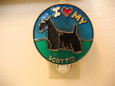 """Stained Glass Style """"Scottish Terrier"""" Dog Night Light- Great Gift For All!"""