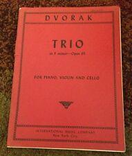 Dvorak Trio In F Minor Opus 65 For Piano, Violin, And Cello