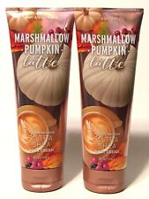 Lot 2 Bath Body Works Marshmallow Pumpkin Latte Body Cream 8 Oz Tube Ultra Shea