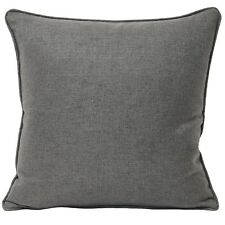 """Plain Woven Grey Piped 22"""" - 55cm Cushion Cover"""