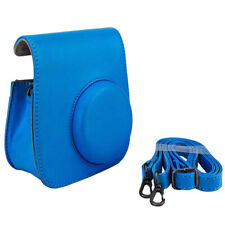 Cobalt Blue Groovy Case For Fuji Instax Mini Camera + Strap Brand New!!