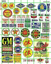 4009 DAVE'S DECALS HO UP DECAL GAS OIL USED CARS AUTOS ACME TIRES SIGNS BUILDING