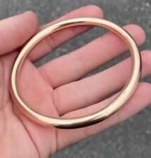 Antique, Solid 9k Rose Gold Large Slave Bangle ~ Rare Beauty ~ not scrap ~ 12.3g