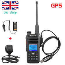 Retevis RT82 GPS Digital Walkie Talklie UHF+VHF Ham Radio+Car Charger+Mic+Cable