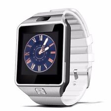 white W-09 1.54'Touch Screen Watch Phone Unlock Quad band GSM  Bluetooth Phone