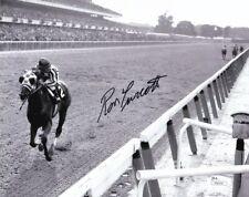 Ron Turcotte Signed 8x10 Secretariat 1973 Belmont Stakes Horse Racing Photo JSA