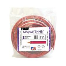 Southwire Thhn Wire 25 Ft 8 Gauge Heatuv Resistant Waterproof Stranded Red