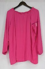 Polyester Casual Regular Size Tops & Shirts Ruffle for Women