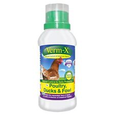 Verm-X Liquid for Poultry- 250ml Wormer Anti Parasite for Chickens Ducks Fowl
