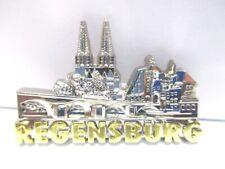 Regensburg 3D Metall  Magnet Metallic silberfarben,Germany,hochwertig !
