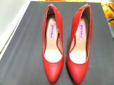Womens Betsey Johnson Shoes High Heels Stiletto Platform Pumps Red Size 6.5 1/2
