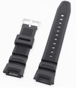 Replacement Casio Watch Band Twin Sensor SGW100 SGW-100-1V Black Rubber Strap