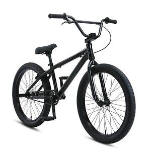 """New SE Bikes Stealth Mode Black So Cal Flyer 24"""" BMX 2021"""