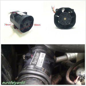 Black 3.2A Car Truck Electric Turbine Turbo Double Fan Boost Intake Fans ACE60