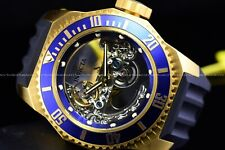 Invicta 51mm Russian Diver Ghost Auto. Skeletonized Dial Blue Gold Plated Watch