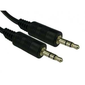 5m 3.5mm Jack to Jack Aux Cable STEREO Audio Auxiliary Lead PC Car GOLD