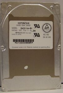 Hitachi DK212A-81 810MB 2.5IN 19MM IDE Hard Drive Tested Good Our Drives Work